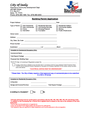 Texas Electrical Permit Application Form on electrical risk assessment form, birth certificate application form, work permit form,