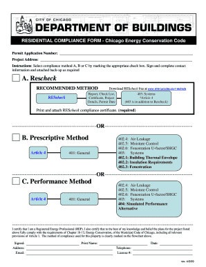 Fillable Online cityofchicago PDF ResidentialComplianceForm.pdf ...