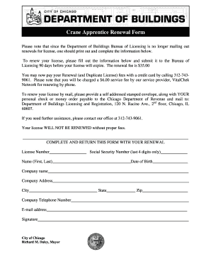 city of chicago crane operators license renewal form