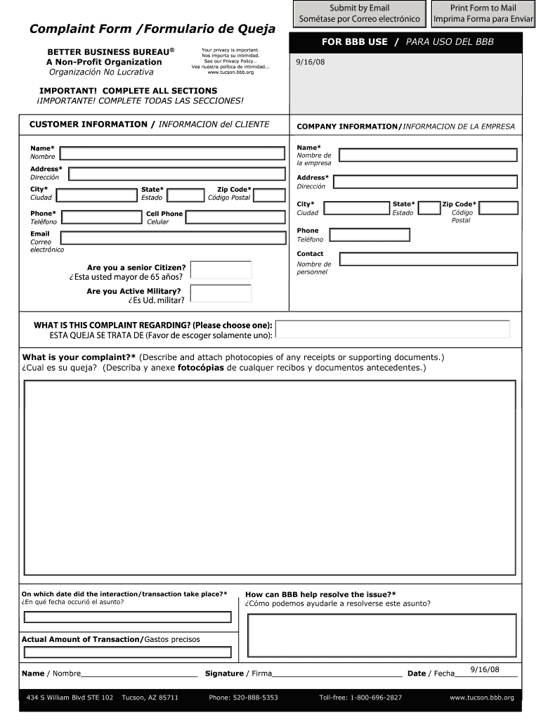 How to write a complaint to better business bureau resume format for freshers of computer science engineering