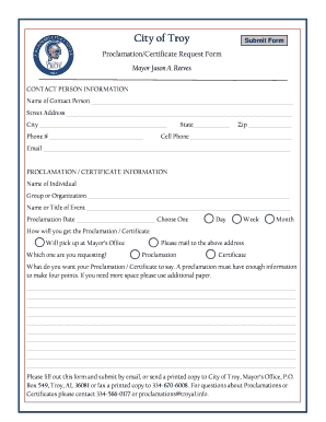 Blank Proclamation Forms Fill Online Printable Fillable