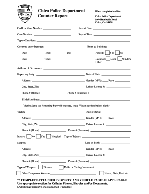 122 Printable Police Report Forms And Templates Fillable Samples In Pdf Word To Download Pdffiller