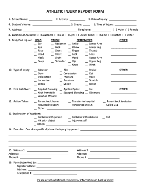 Report For Athletic - Fill Online, Printable, Fillable, Blank ...