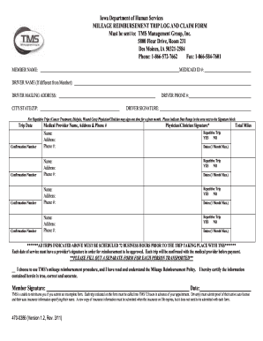 state of iowa mileage reimbursement form