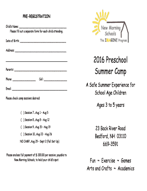 2016 Preschool Summer Camp - irp-cdnmultiscreensitecom