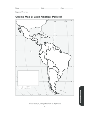 Fillable Online Outline Map 5 Latin America Political ...