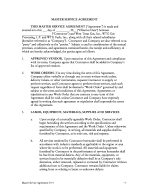 Master service agreement for it services editable fillable master service agreement this master service agreement made and platinumwayz