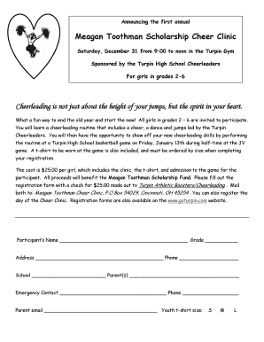 Meagan Toothman Scholarship Cheer Clinic - foresthills