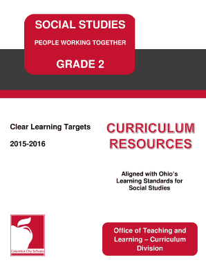 Social Studies 2 Clear Learning Targets - ccsohus