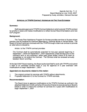 tpapn forms Fillable Online bon texas APPROVAL OF TPAPN CONTRACT ADDENDUM FOR ...