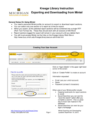 Fillable Online bus umich Kresge Library Instruction - Ross