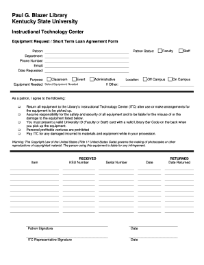 Printable Short Form Loan Agreement Edit Fill Out