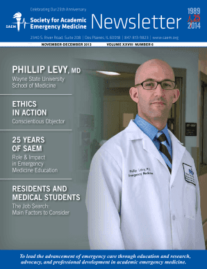 Fillable Online saem PHILLIP LEVY MD - Society for Academic