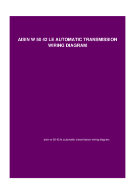 fillable online openballotvoting aisin w 50 42 le automatic aircraft wiring diagrams aisin wiring diagram #27