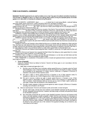 Fillable online form 1b39 standstill agreement comment standstill fill online platinumwayz