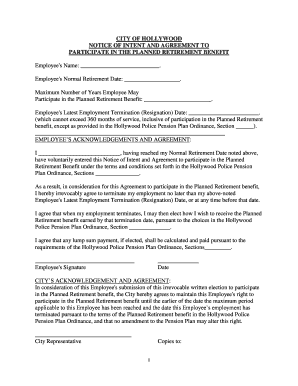 CITY OF HOLLYWOOD NOTICE OF INTENT AND AGREEMENT TO - bcpba