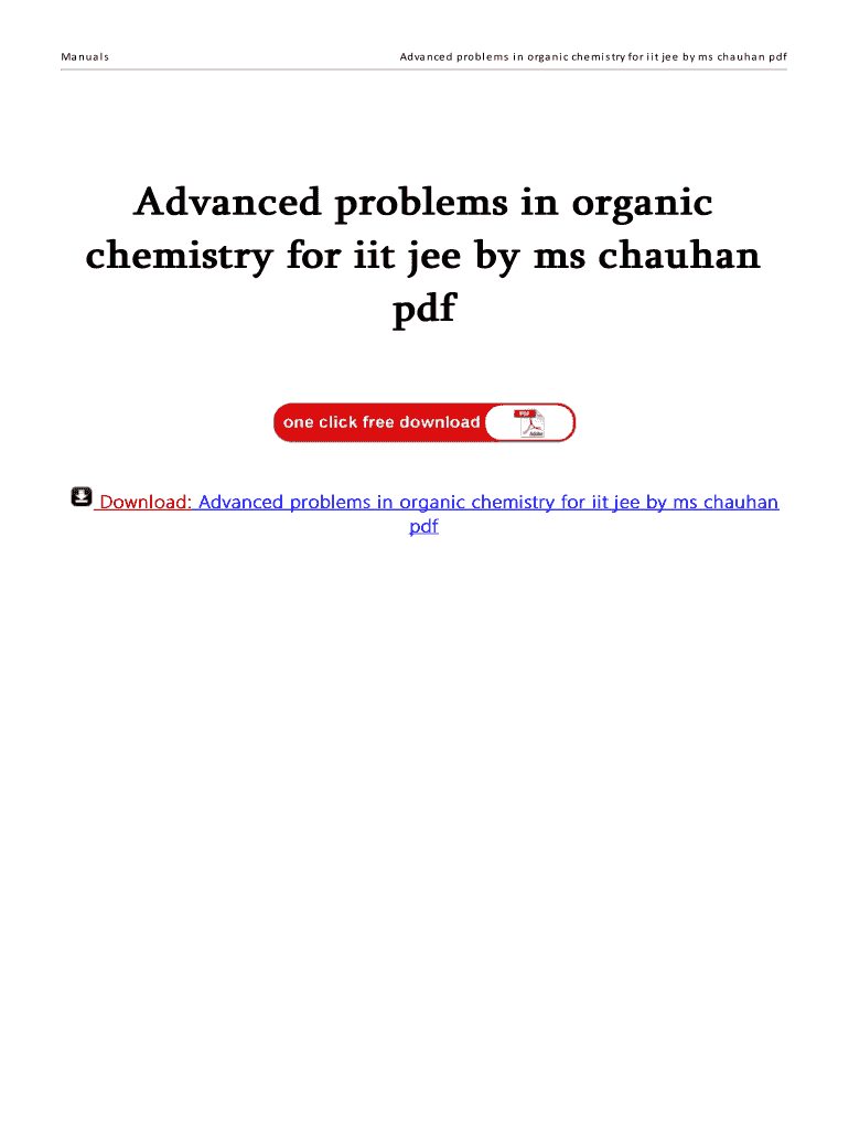 M S Chauhan Organic Chemistry Balaji Publications Pdf Free Download