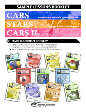 Sample Lessons Booklet Cars Hawker Brownlow Education Fill Online
