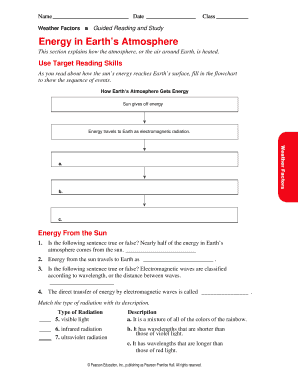 fillable online weather factors guided reading and study energy in rh pdffiller com guided reading and study workbook answers guided reading and study workbook answers