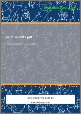 Fillable Online Da Form 3881 Pdf - Complete Source for Free PDF ...