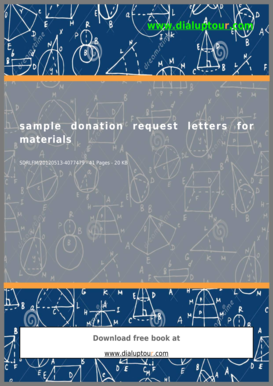 Sample Donation Request Letters For Materials