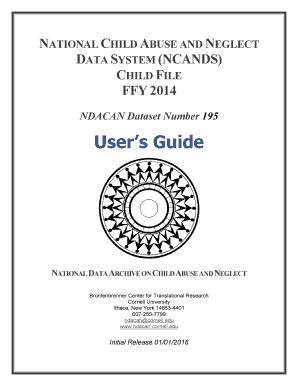 NCANDS Child File Users Guide Detailed information about the NCANDS Child File for Users of the Data - ndacan cornell