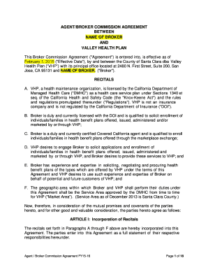 19 Printable Agents Commission Agreement Forms And Templates