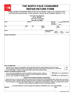 north face warranty form the north face warranty return form - Anta.expocoaching.co