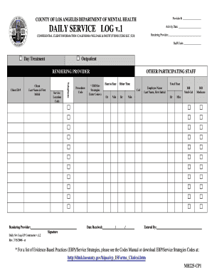 daily work record template