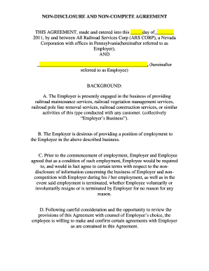 Noncompete agreement forms and templates fillable printable non disclosure and non compete agreement accmission Gallery