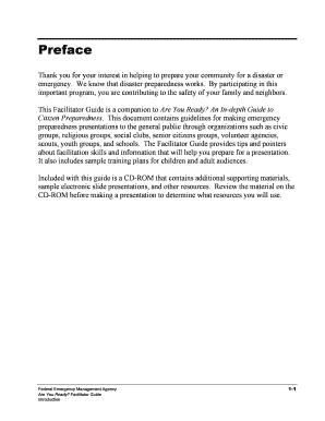 fema emergency preparedness powerpoint presentation - Fill