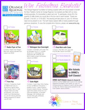 basket raffle flyer template - Editable, Fillable & Printable Online ...