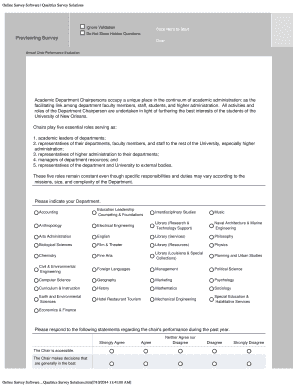 Fillable Department Performance Survey Questions Samples To Complete