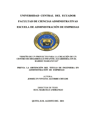 Fillable Online Universidad Central Del Ecuador Facultad De Ciencias