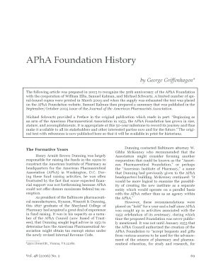 APhA Foundation History
