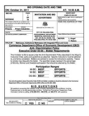 bid proposal sample pdf edit online fill out download forms in