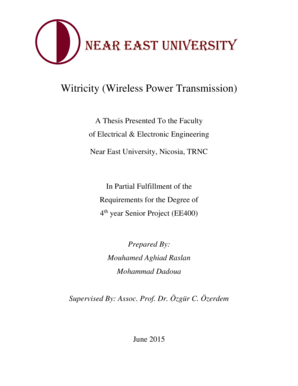 Fillable Online docs neu edu Witricity (Wireless Power