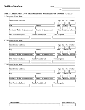 Form N-400 Templates - Fillable & Printable Samples for PDF, Word ...
