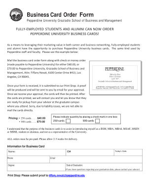Examples of business forms sample business forms in pdf business business card order form pepperdine university accmission Gallery
