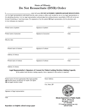 Bill Of Sale Form Illinois Do Not Resuscitate Form Templates ...