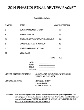 Fillable Online npsd k12 nj PHYSICS FINAL REVIEW PACKET