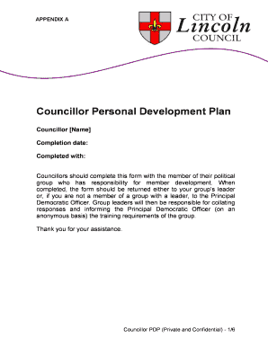 Personal Development Plan Template Excel. Councillor Personal Development  Plan  Personal Development Plan Template Excel