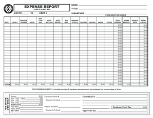Credit Card Expense Report Template Forms Fillable Printable - Credit card expense form template