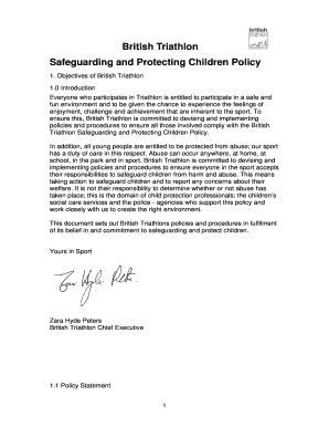british triathlon safeguarding and protecting children policy