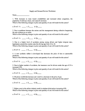 Fillable Online Moonvalley Guhsdaz Supply And Demand Review Worksheet Moon Valley High School Fax Email Print Pdffiller