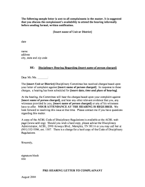 Formal complaint letter sample against a person - Edit, Fill ...