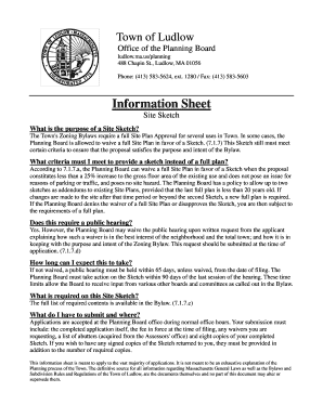 Fillable Online Ludlow Ma Site Sketch Doc Ludlow Ma Fax Email Print Pdffiller