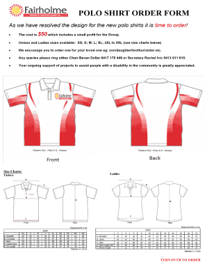 As we have resolved the design for the new polo shirts it is time to order