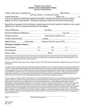Editable Medical consent form for child while parents are away ...