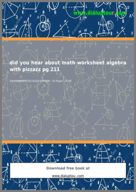 math worksheet : did you hear about math worksheet 211 form fill online printable  : Did You Hear About Math Worksheet